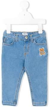 Moschino Kids teddy patch jeans