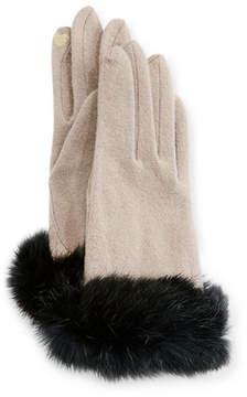 Portolano Fur-Cuff Knit Tech Gloves