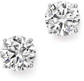 Bloomingdale's Certified Diamond Stud Earrings in 14K White Gold, 3.0 ct. t.w. - 100% Exclusive