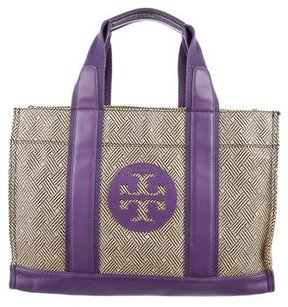 Tory Burch Woven Raffia Tory Tote - BROWN - STYLE
