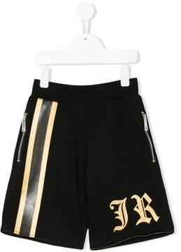 John Richmond Kids piped logo shorts