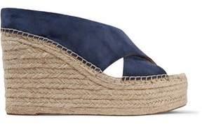Sigerson Morrison Suede Espadrille Wedge Sandals