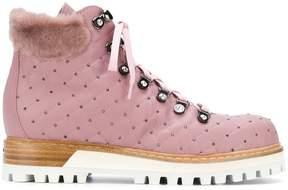 Le Silla Lesilla Mountain micro-studded boots