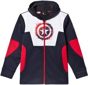 Spyder Slate Captain America Marvel Riot Full Zip Hoodie