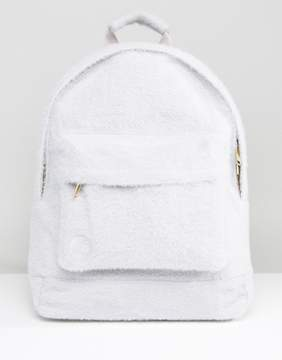 Mi-Pac Limited Edition Classic Backpack in Gray Faux Fur