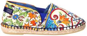 Dolce & Gabbana Maiolica Print Cotton Canvas Espadrilles