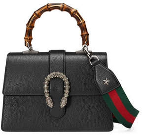 Gucci Dionysus Medium Leather Top-Handle Bag - BLACK - STYLE