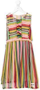 No.21 Kids striped dress