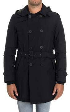 Herno Men's Blue Polyester Jacket.