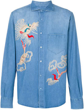 Ermanno Scervino embroidered denim shirt