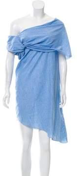 Baja East Striped Asymmetrical Dress w/ Tags