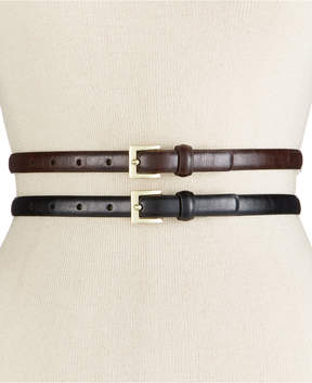 INC International Concepts Glaze 2-for-1 Belts, Created for Macy's