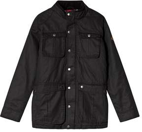 Joules Black Faux Wax Jacket