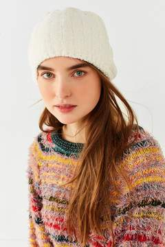 Urban Outfitters Chenille Ribbed Beanie