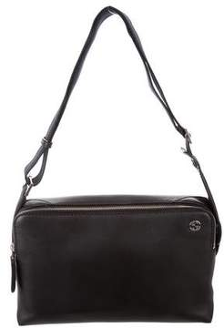 Gucci Leather Messenger Bag - BLACK - STYLE