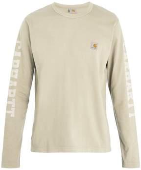 Junya Watanabe X Carhartt logo-print long-sleeved cotton T-shirt