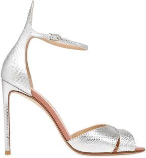 Francesco Russo 105mm Metallic Leather & Karung Sandals