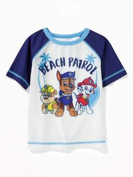 Old Navy Paw Patrol Beach Patrol Rashguard for Toddler Boys
