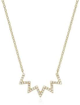 Ef Collection Electric Zig Zag Diamond Necklace