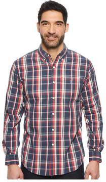 U.S. Polo Assn. Long Sleeve Plaid Sport Shirt Men's Clothing