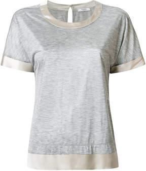 Peserico satin trimming T-shirt