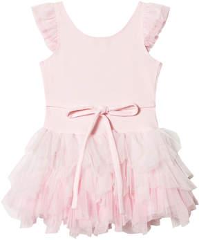 Kate Mack Biscotti Pink Ballerina Print and Tulle Detail Tutu Dress
