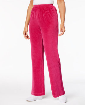 Alfred Dunner Royal Jewels Velour Pull-On Pants