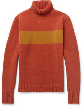 Oliver Spencer Talbot Slim-Fit Striped Wool Rollneck Sweater