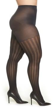 Berkshire Plus Size Women's Vertical Stripe Tights