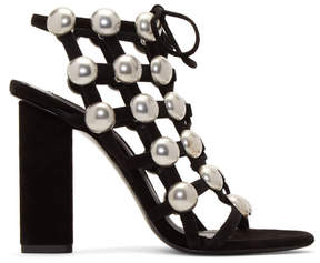 Alexander Wang Black Rubie Lace-Up Sandals