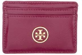 Tory Burch Patent Leather Cardholder - BURGUNDY - STYLE