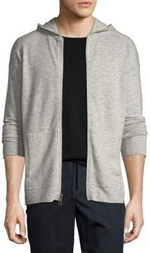 ATM Anthony Thomas Melillo Wool/Cashmere Zip-Front Hoodie