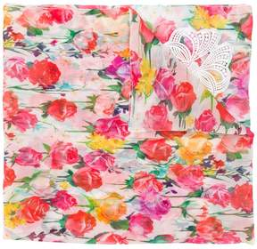Blumarine floral scarf