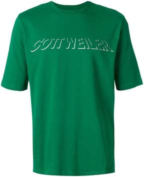 Cottweiler holographic logo T-shirt