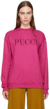 Emilio Pucci Pink Rhinestone Logo Sweatshirt
