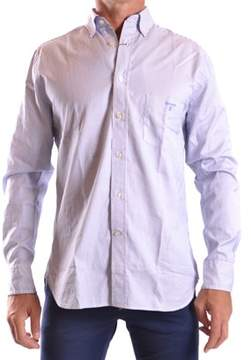 Gant Men's Blue/burgundy Cotton Shirt.