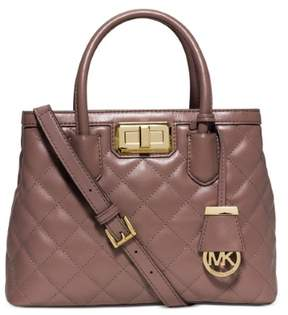 MICHAEL Michael Kors Hannah Small Satchel in Dusty Rose - DUSTY ROSE - STYLE