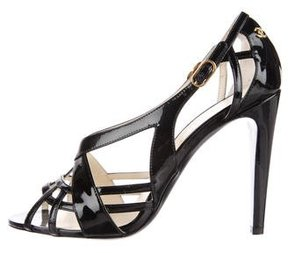 Chanel Patent Leather Cage Sandals