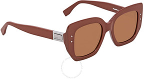 Fendi Brown Square Ladies Sunglasses FF 0267/S 2LF/70