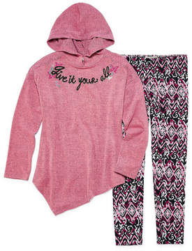 Self Esteem Assymetrical Hoodie Legging Set - Girls' 7-16 and Plus