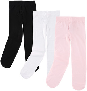 Luvable Friends Pink, White & Black Tights Set - Infant & Kids