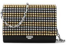 Michael Kors Collection Small Studded Leather Crossbody Clutch