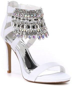 Gianni Bini Avevaa Jeweled Satin Dress Sandals