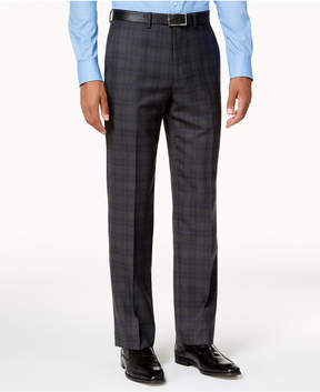 Ryan Seacrest Distinction Slim-Fit Gray & Blue Plaid Pants, Created for Macy's