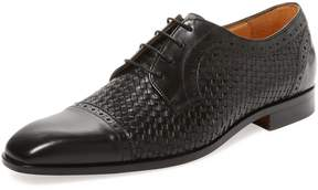 Saks Fifth Avenue Men's Cap-Toe Leather Derby Shoe