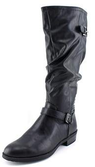 White Mountain Chip Women Round Toe Synthetic Black Knee High Boot.