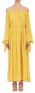Derek Lam Women's Silk Georgette Off-The-Shoulder Belted Dress