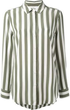 Equipment crepe de chine striped shirt