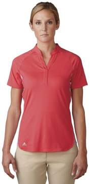 adidas 2016 Women's Tour ClimaCool Texture Polo Shirt (Shock Red/Wild Orchid - XS)