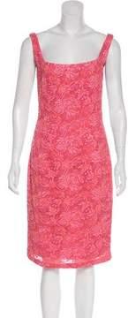 Carmen Marc Valvo Embellished Knee-Length Dress
